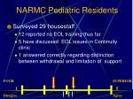 narmc pediatric residents