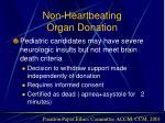 non heartbeating organ donation