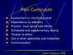 pain curriculum