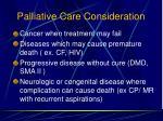 palliative care consideration