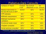 palliative care consults