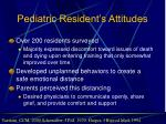 pediatric resident s attitudes
