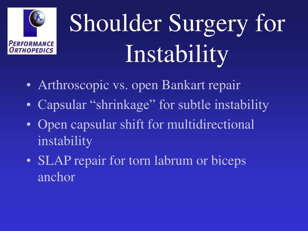 Shoulder Surgery for Instability