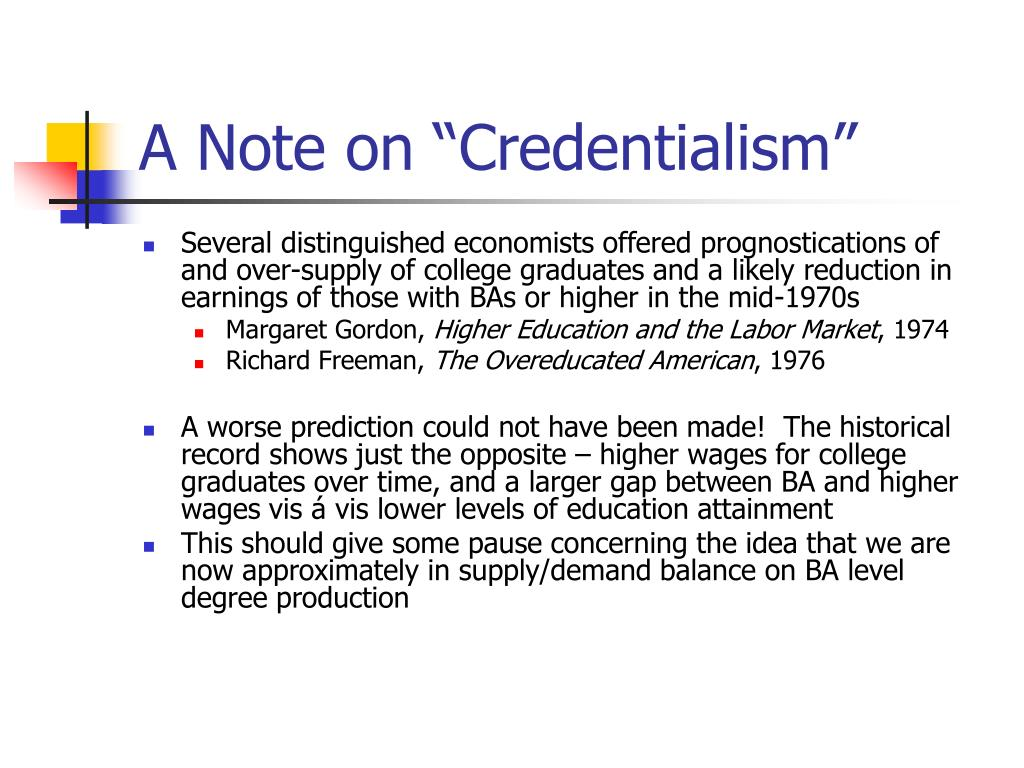 """A Note on """"Credentialism"""""""