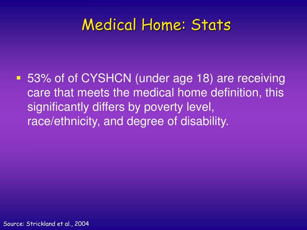 Medical Home: Stats