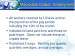 macrodata output employment