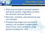 macrodata output total quarterly wages