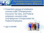 the quarterly census of employment and wages program what is it