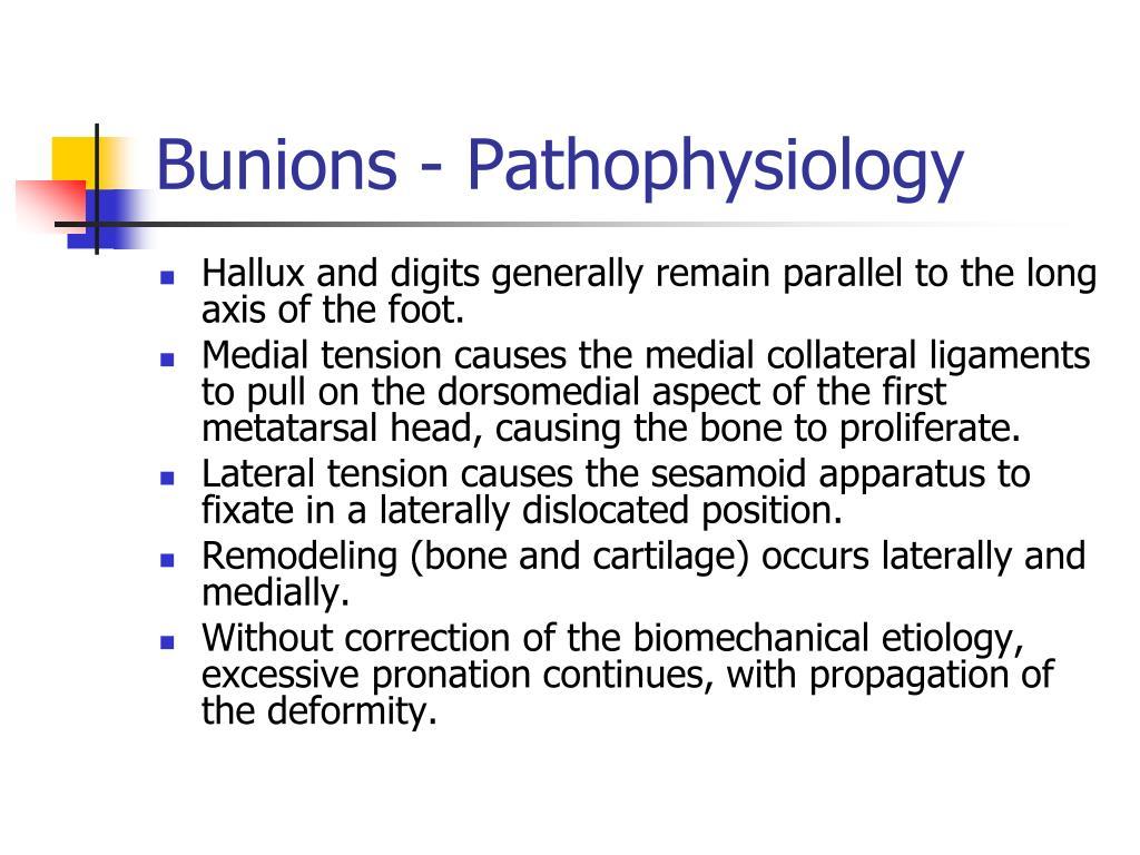Bunions - Pathophysiology