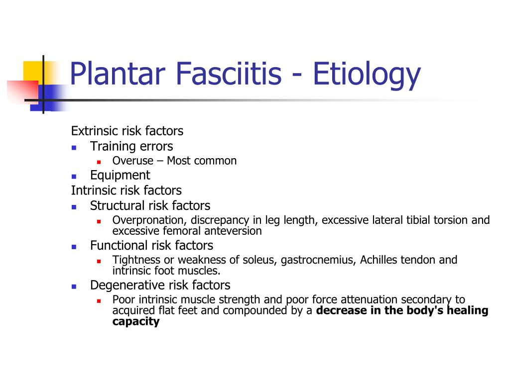 Plantar Fasciitis - Etiology