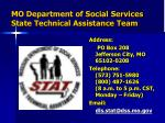 mo department of social services state technical assistance team