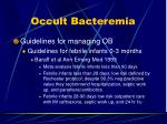 occult bacteremia11