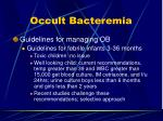 occult bacteremia12