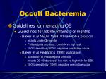 occult bacteremia9
