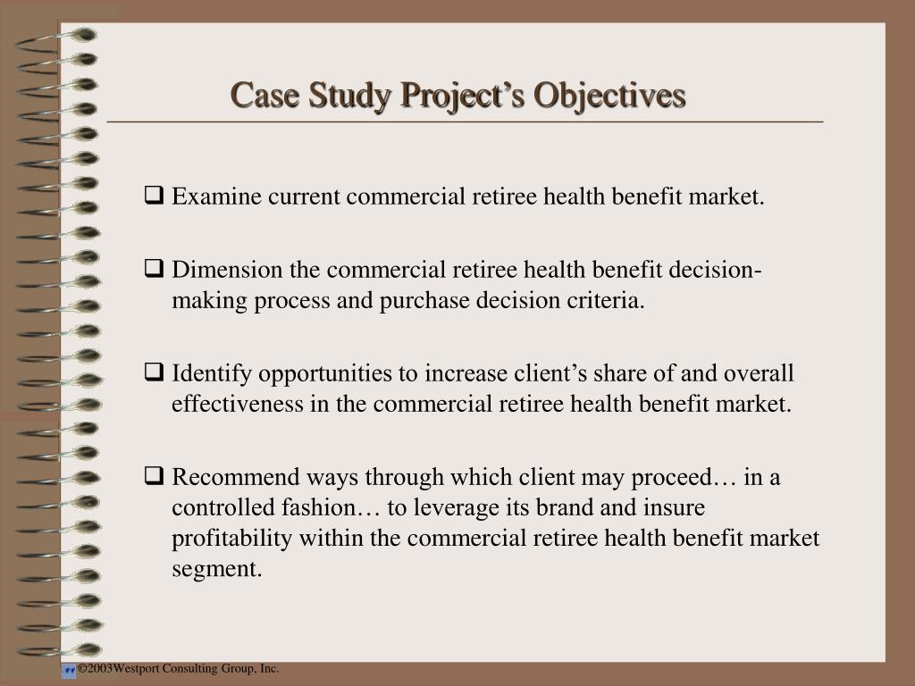 Case Study Project's Objectives