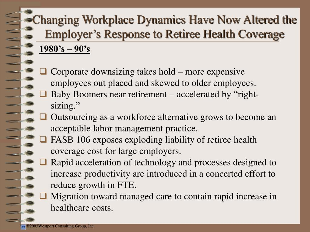 Changing Workplace Dynamics Have Now Altered the