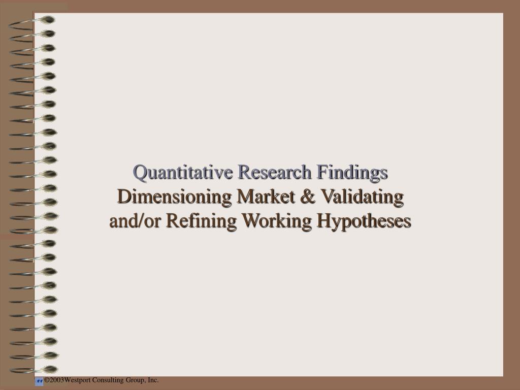 Quantitative Research Findings