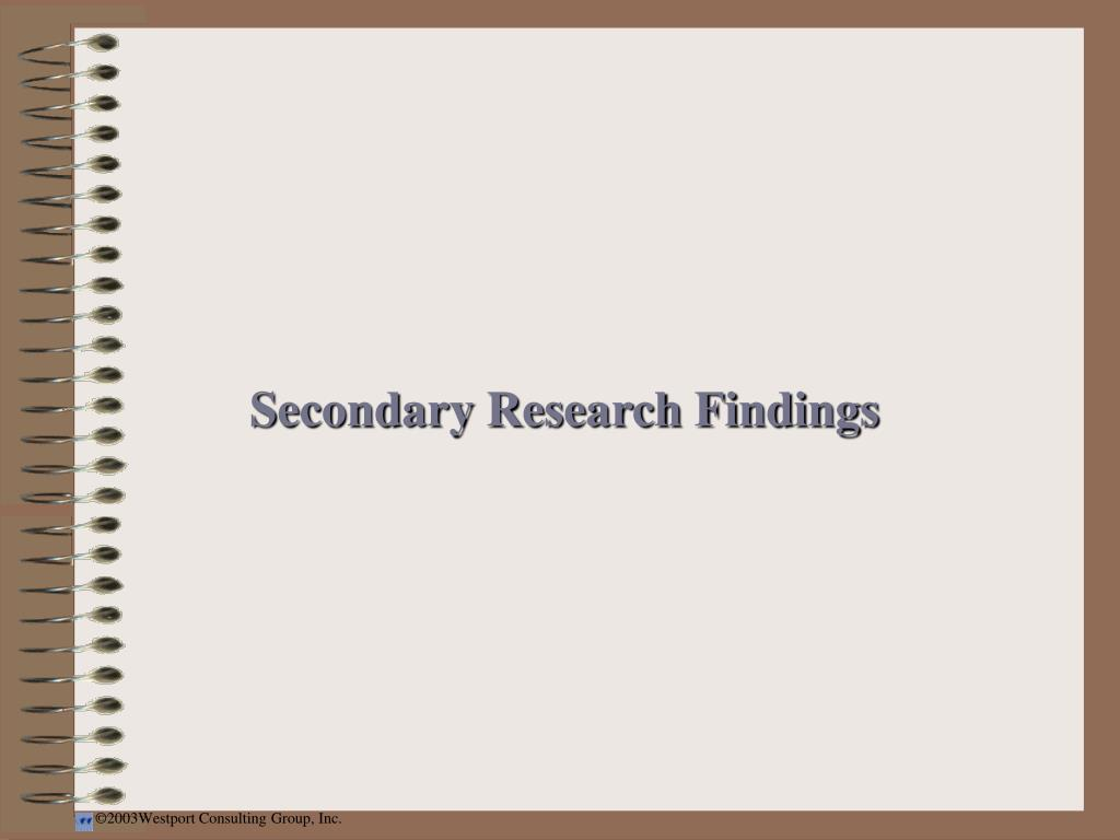 Secondary Research Findings