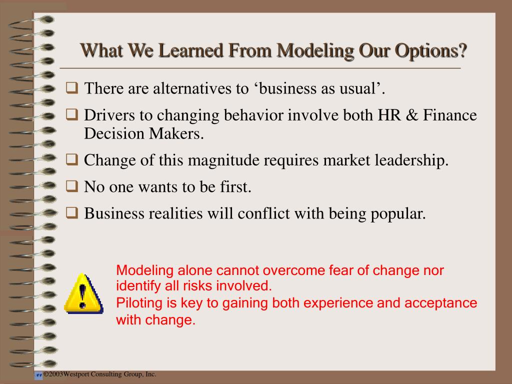 What We Learned From Modeling Our Options?