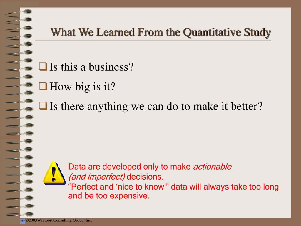 What We Learned From the Quantitative Study