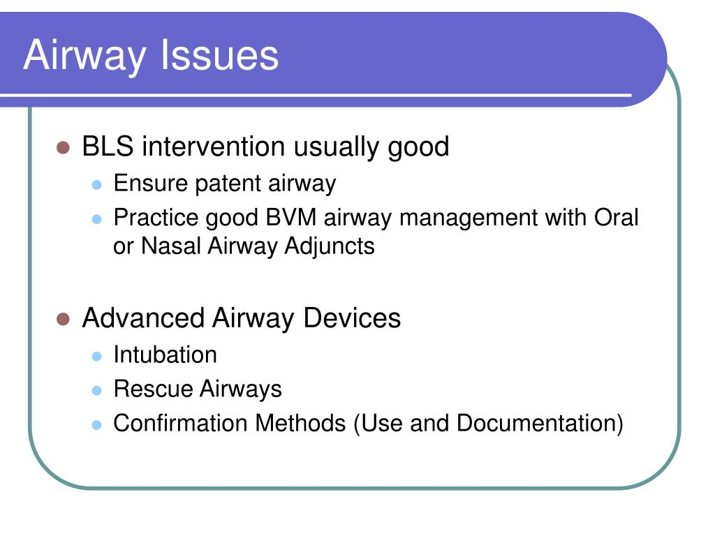 Airway Issues