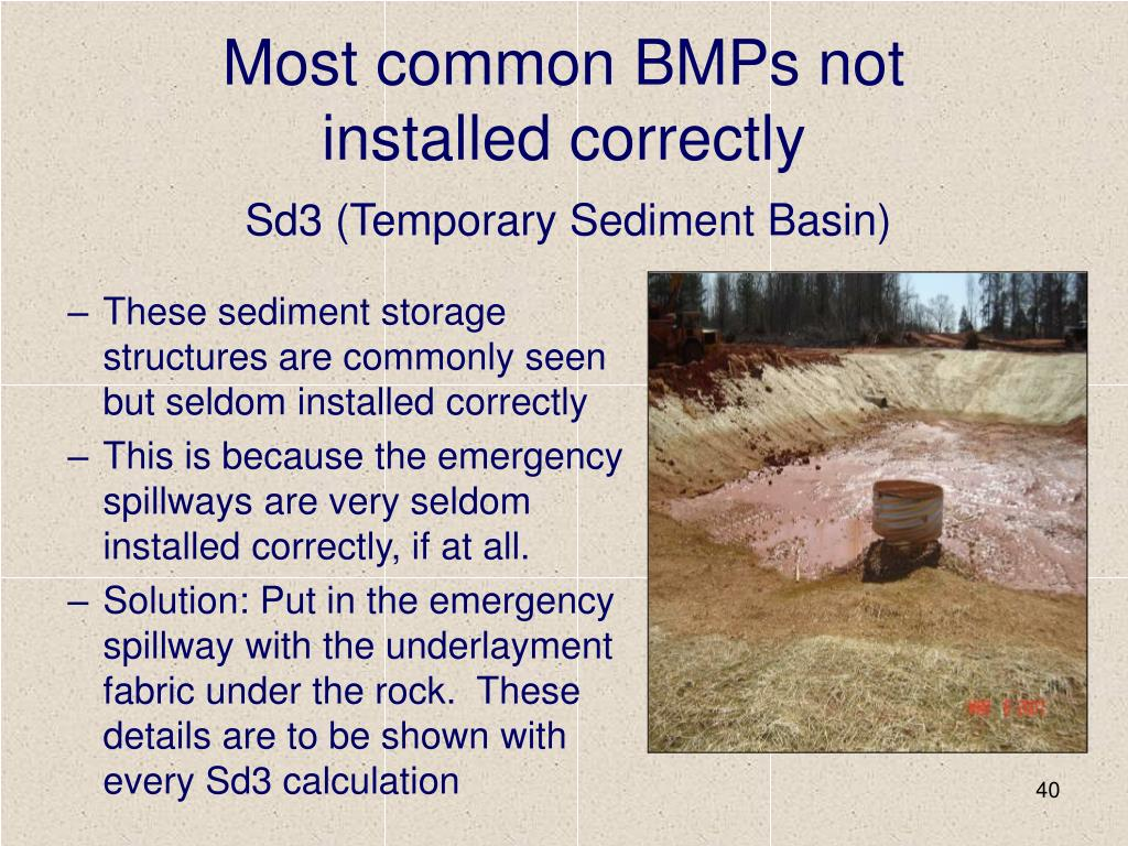 Most common BMPs not