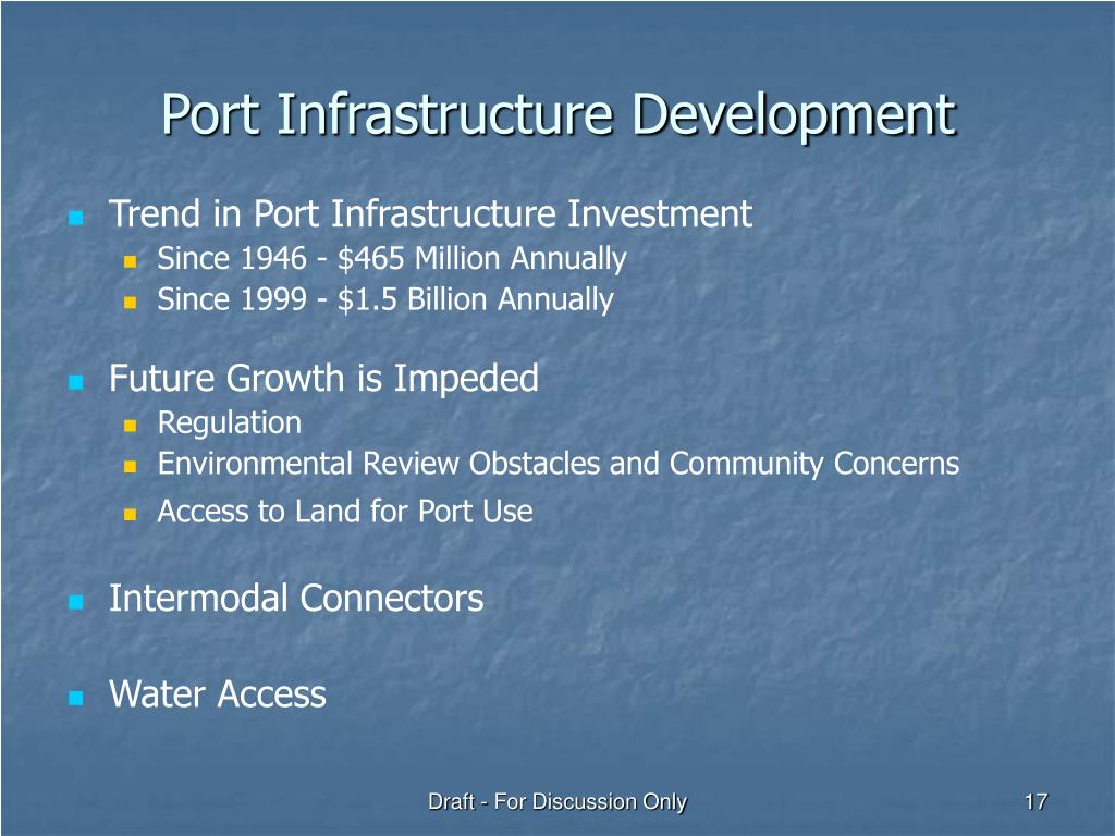 Port Infrastructure Development