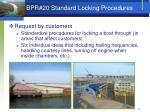 bpr 20 standard locking procedures