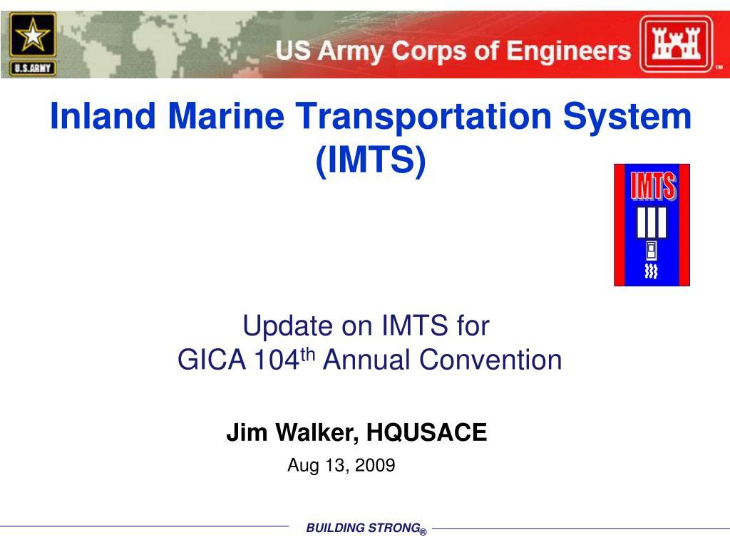 inland marine transportation system imts l.