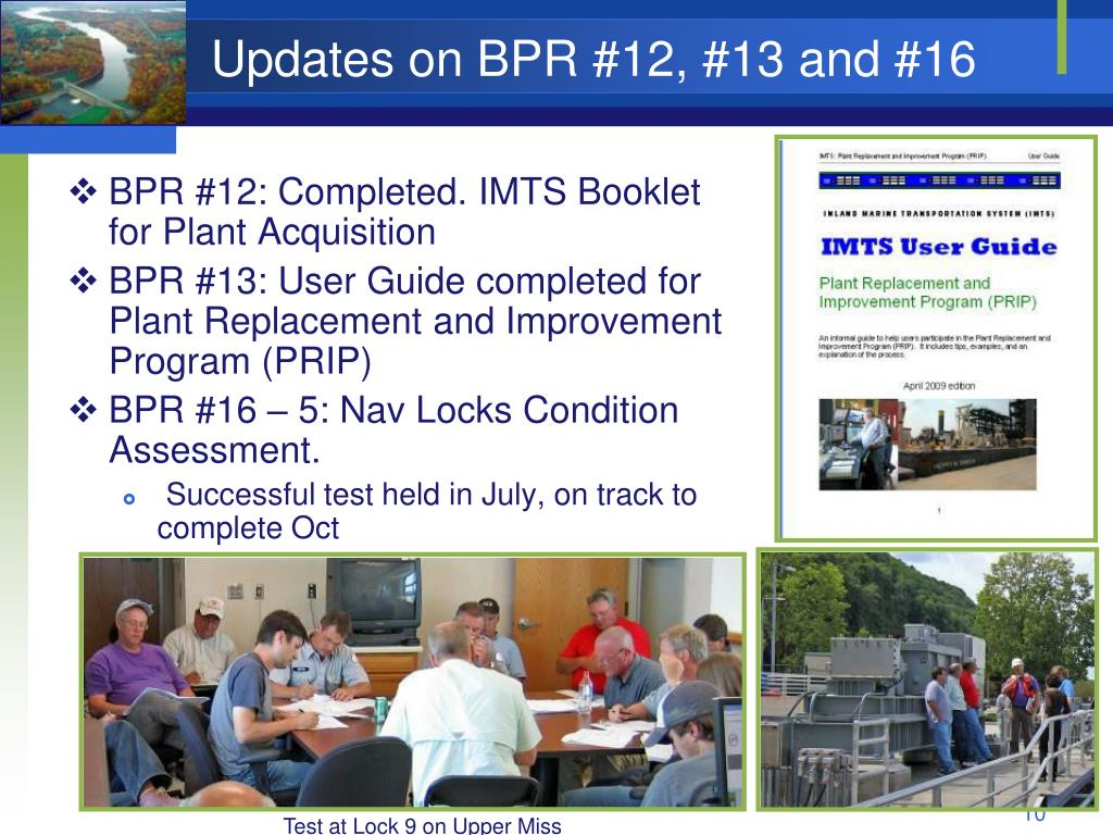 Updates on BPR #12, #13 and #16