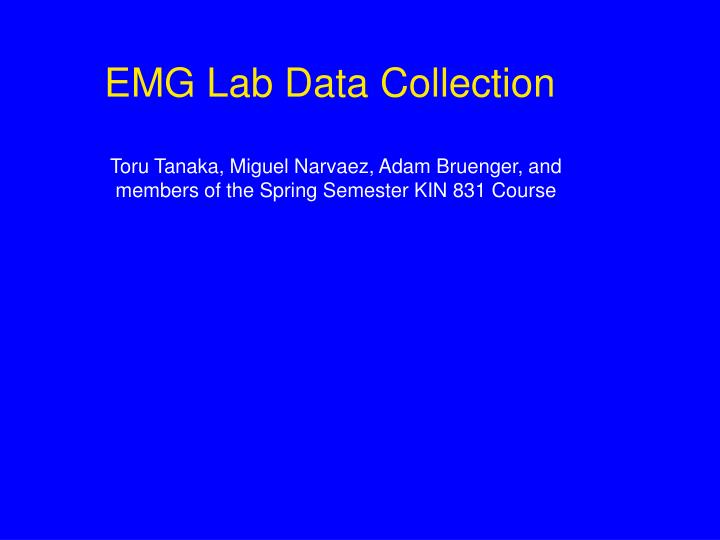emg lab data collection