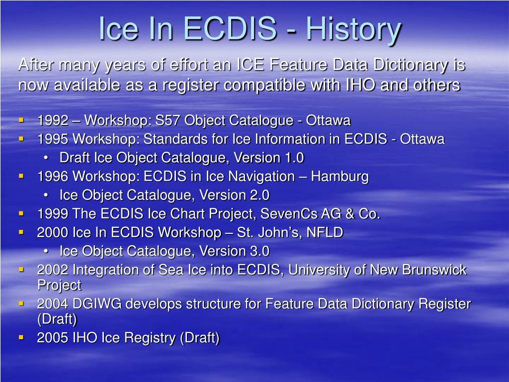 Ice In ECDIS - History