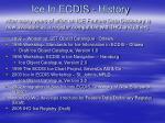 ice in ecdis history