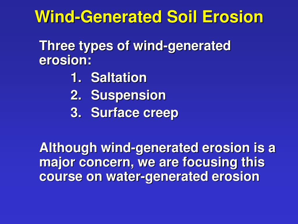 Wind-Generated Soil Erosion