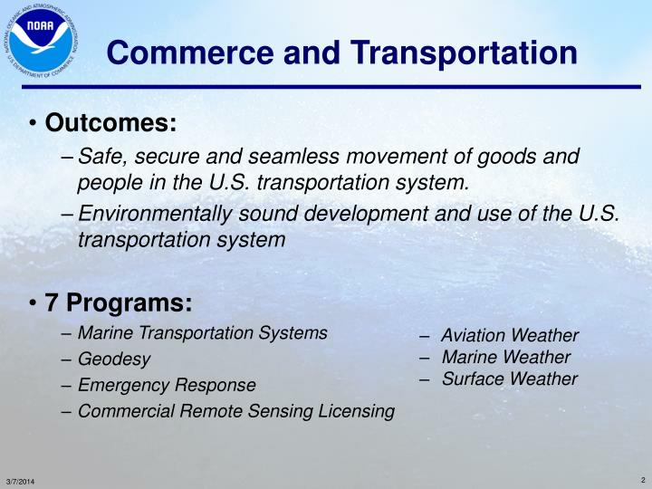 Commerce and transportation