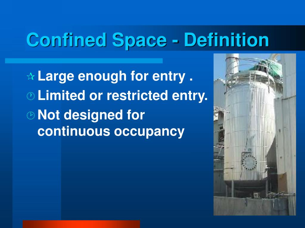Confined Space - Definition
