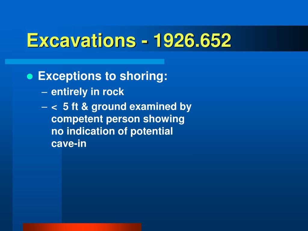 Excavations - 1926.652