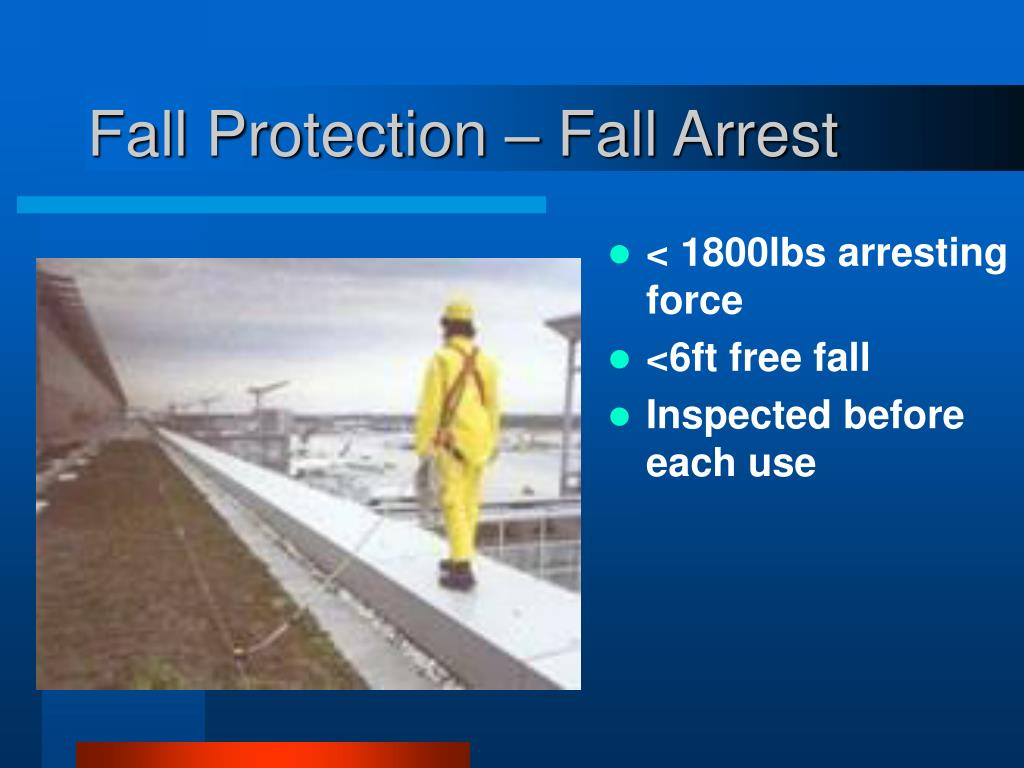 Fall Protection – Fall Arrest