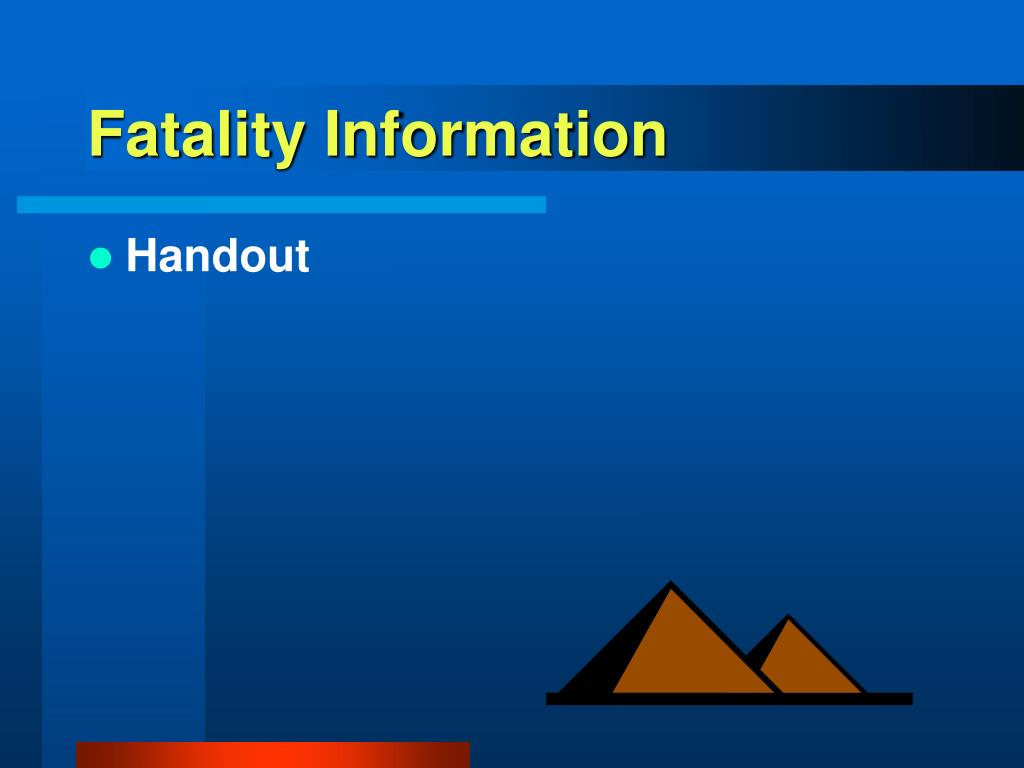 Fatality Information