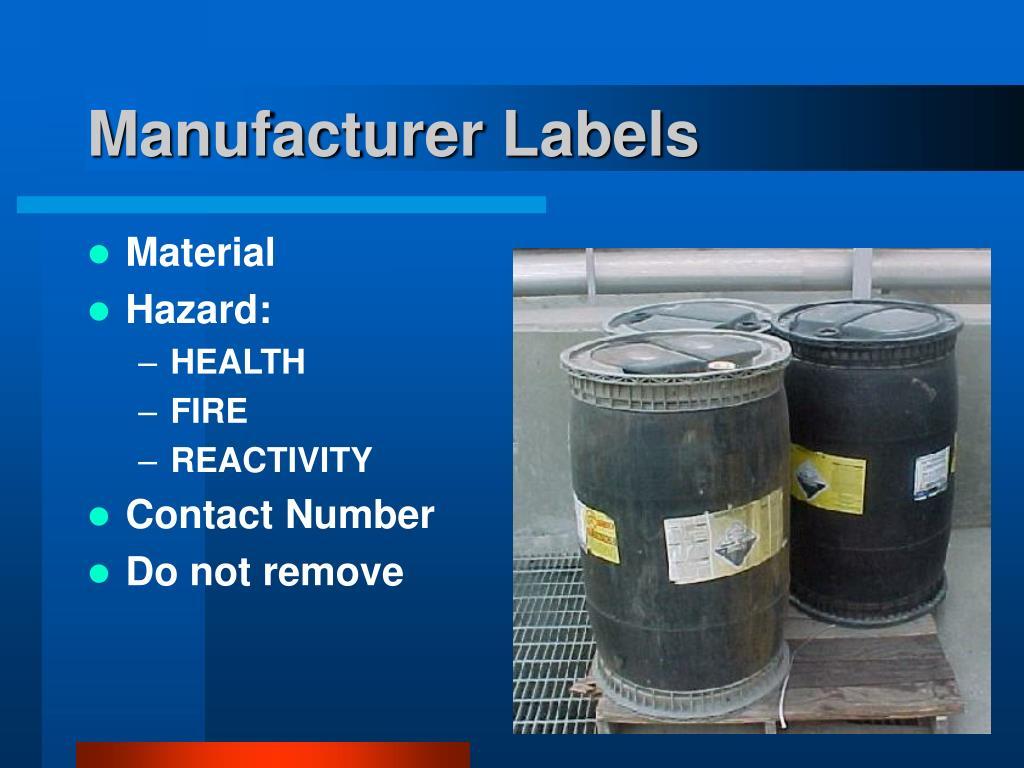 Manufacturer Labels