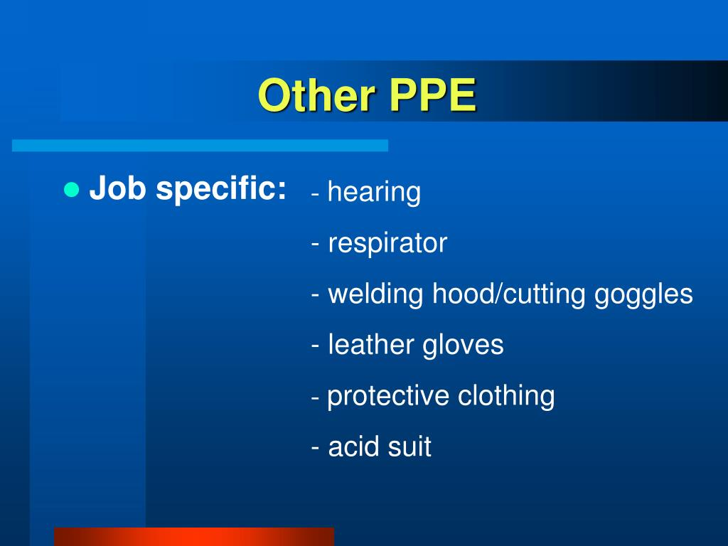 Other PPE