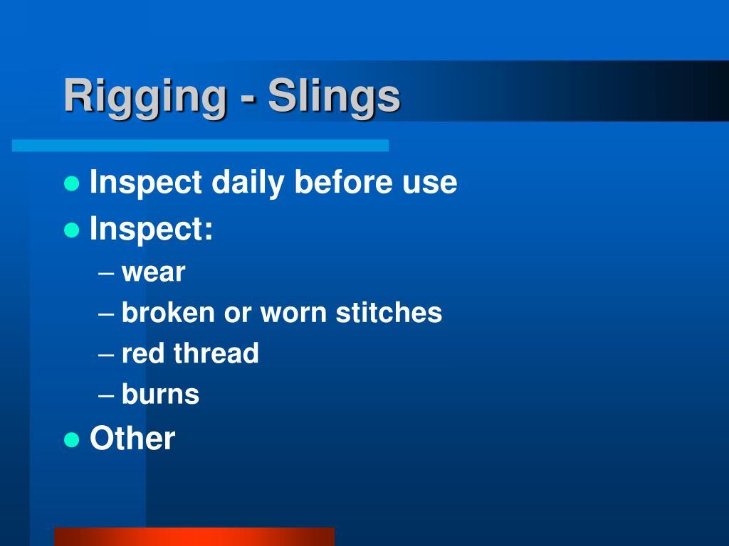 Rigging - Slings