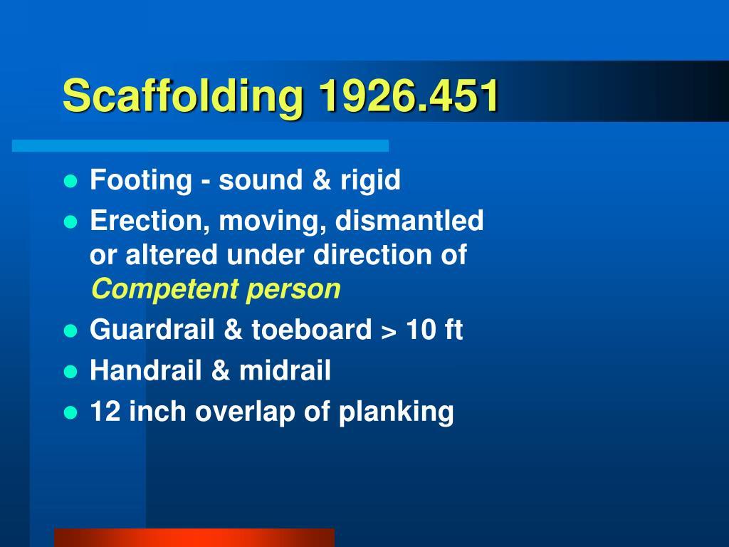 Scaffolding 1926.451