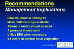 recommendations management implications