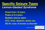 specific seizure types lennox gastaut syndrome