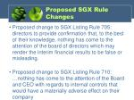 proposed sgx rule changes