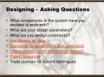 designing asking questions