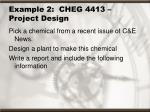 example 2 cheg 4413 project design