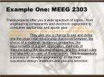 example one meeg 2303