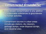 contaminated groundwater